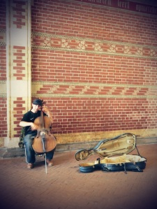 Watched him play two days in a row outside the Rijkmuseum.