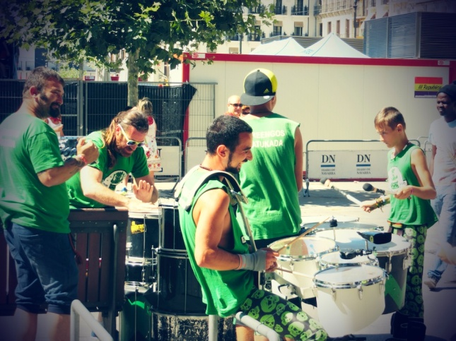 san fermin drumbeaters