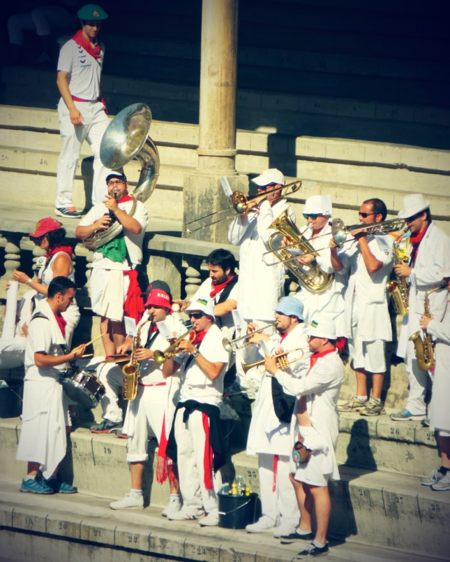 san fermin horns at bullfight